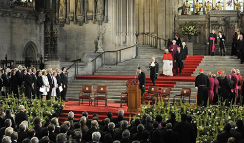 El Papa en Westminster Hall discurso programático